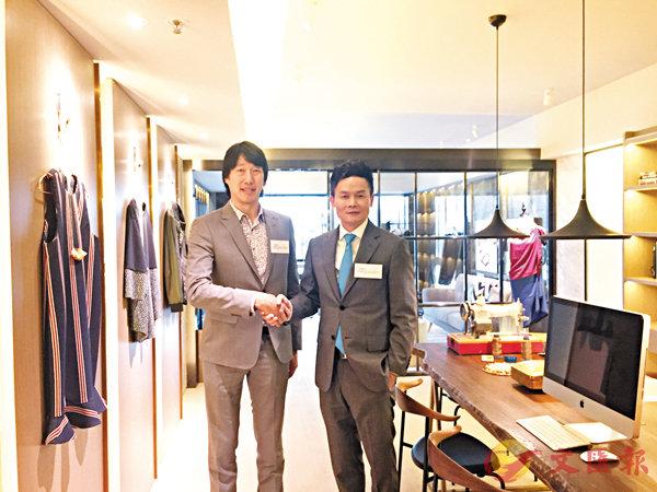 ■左起:ARK董事廖偉廉,�痚簹奐~代理營業(一)部總經理林達民。吳靜儀  攝