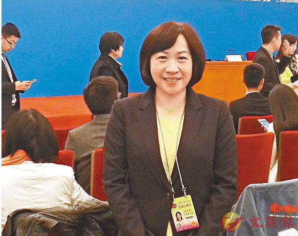 ■台灣《聯合報》資深記者汪莉絹。 本報兩會傳真