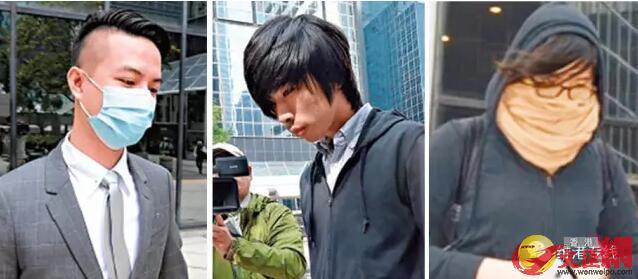 左起:薛達榮、麥子晞、許嘉琪涉參與旺角暴動,被判暴動罪罪成(資料圖片)