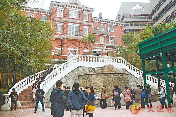 ■英國泰晤士報高等教育特刊公佈,亞洲前10佳大學中,香港大學排名第5。圖為港大校園。資料圖片