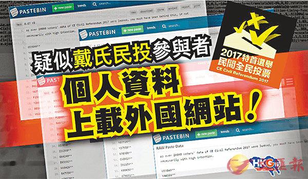 ■網媒《HKG報》揭發疑「民投」保安漏洞。