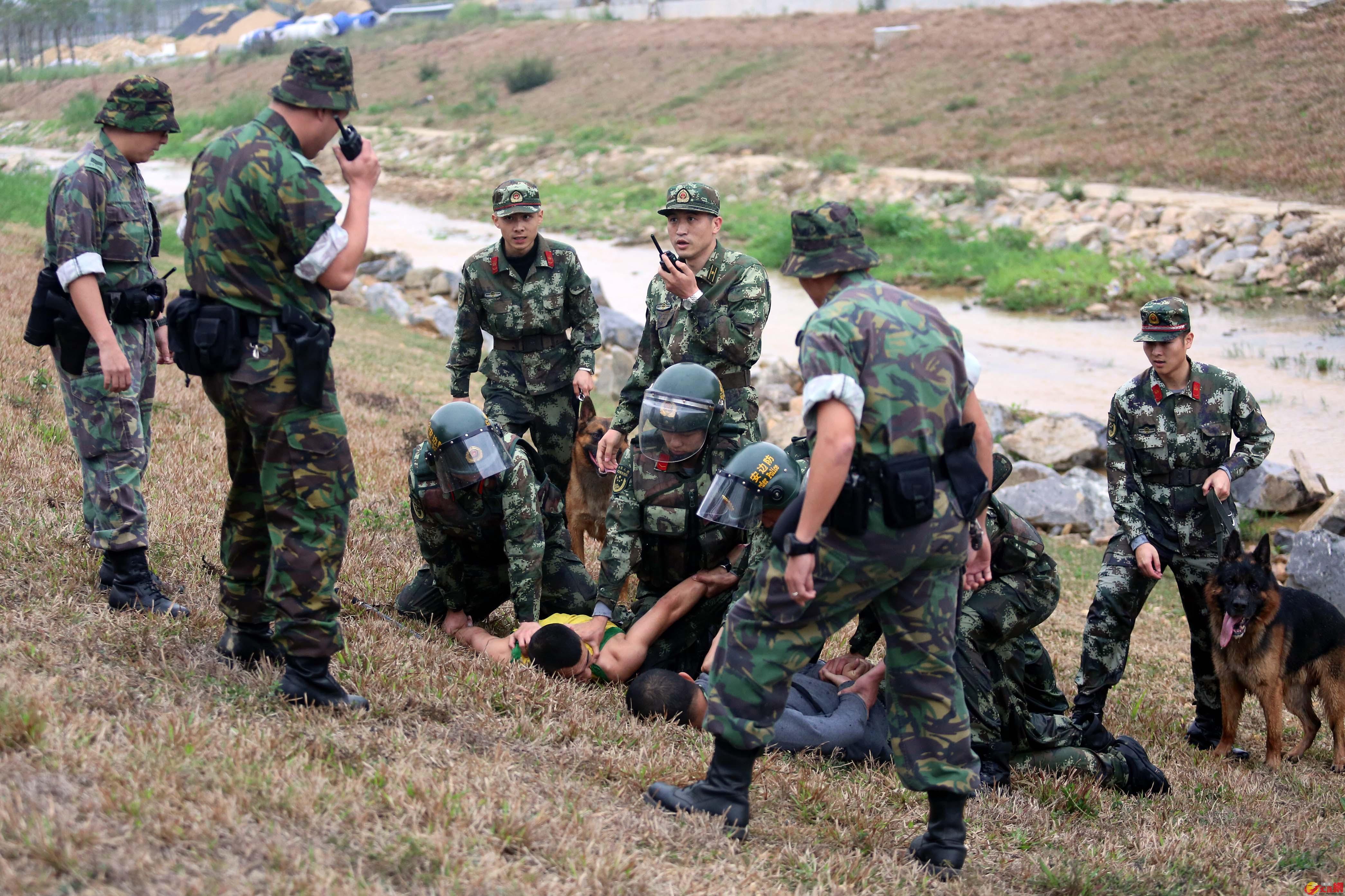 深港警方在邊界一線成功抓獲不法分子。 記者 郭若溪攝