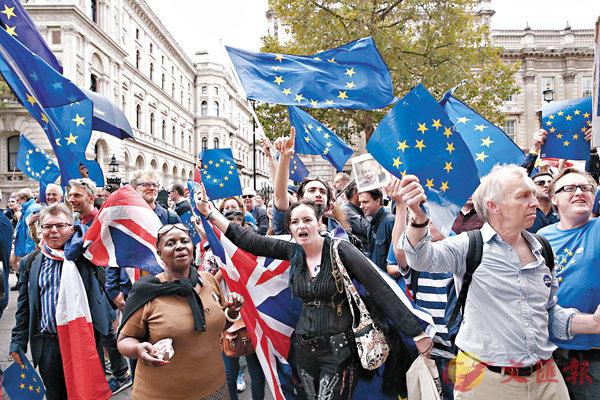 ■縱然反脫歐浪潮持續,惟公投結果不可逆轉。  法新社