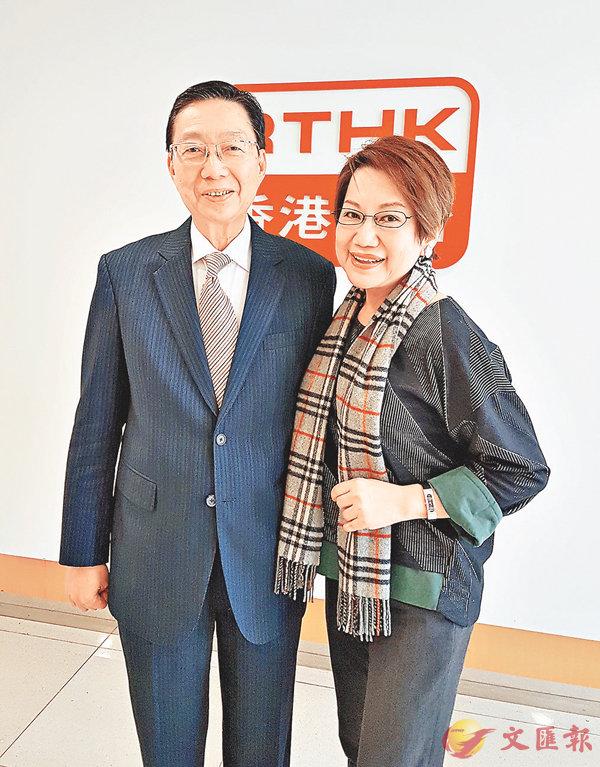 ■「物業管理教父」孫國林先生與車淑梅合照。作者提供