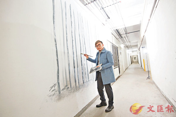 ■姚俊傑較擅長的室內壁畫風格為白楊樹。