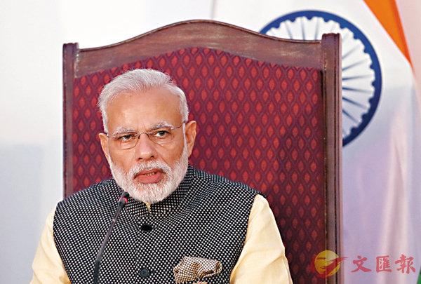 ■印度總理莫迪領導的人民黨在上周議會選舉大勝,增添了2019年大選的政治實力。 資料圖片
