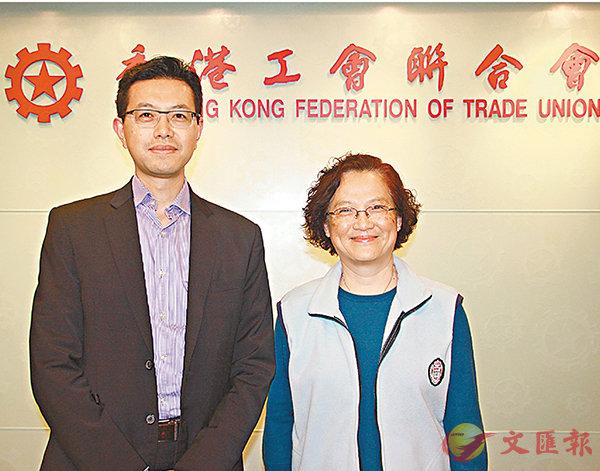 ■林淑儀(右)與吳秋北(左)呼籲選委投票支持林鄭月娥。 聶曉輝 攝
