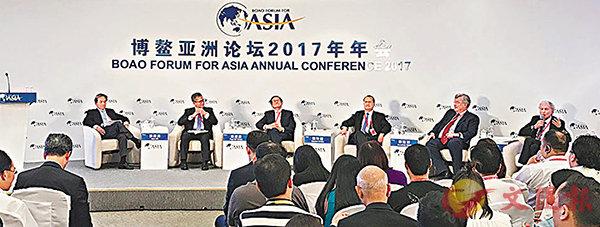 ■博鰲論壇分論壇「全球化與自由貿易:香港經驗與視角」昨日舉行。黃寶儀 攝