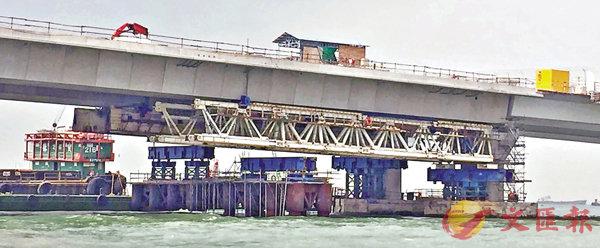 ■再有工人喪命的港珠澳大橋香港段。