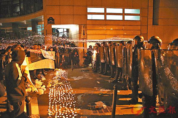 殺華漢3法警停職  華社示威再爆衝突 (圖)