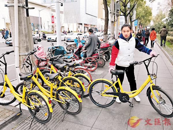■上海街頭的共享單車。 資料圖片