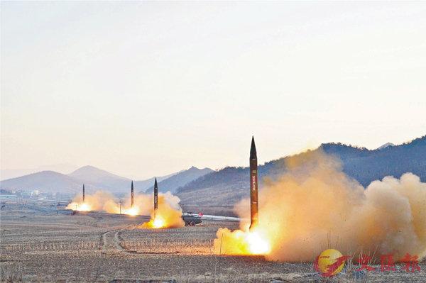 ■朝鮮上月亦曾試射導彈。 路透社