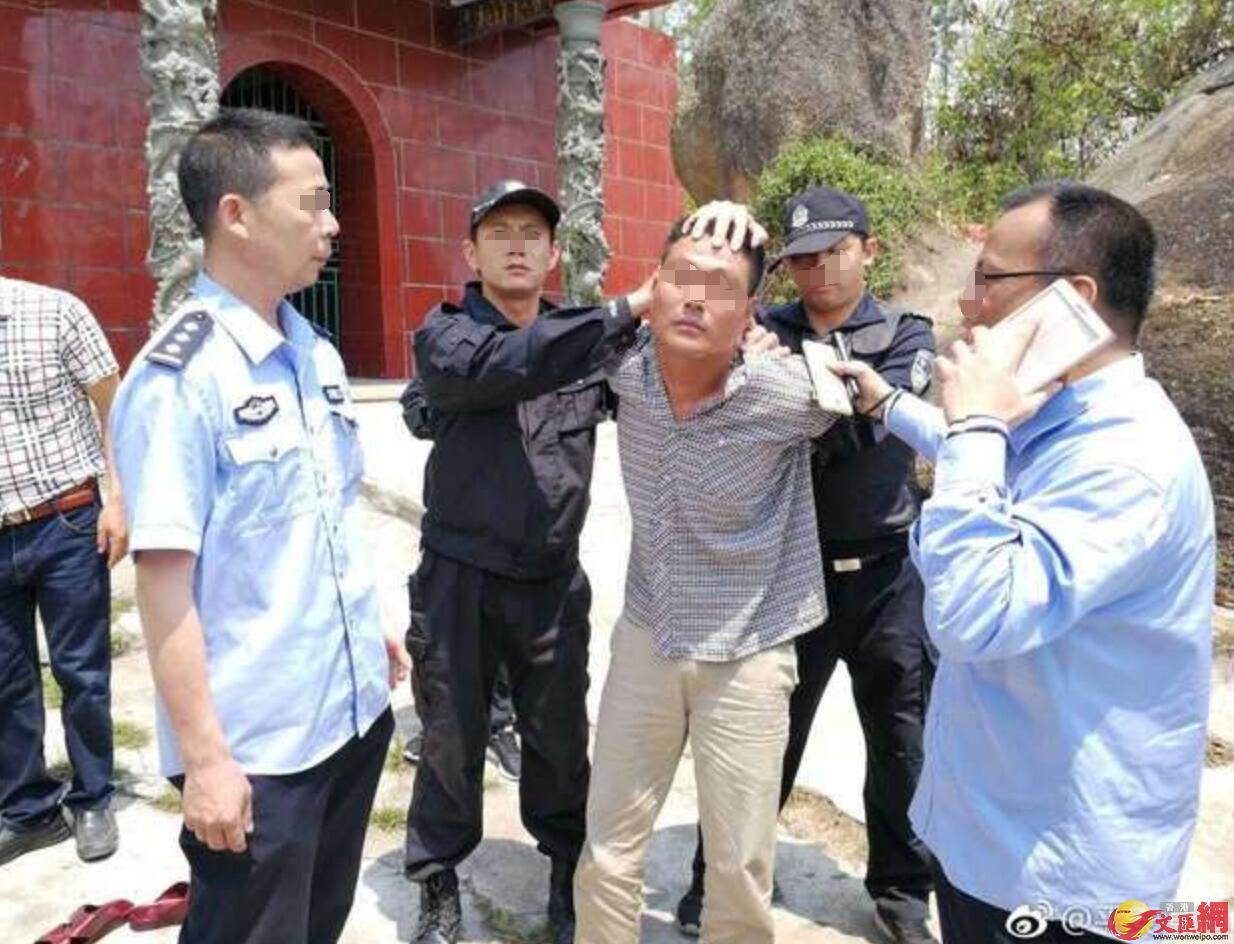 犯罪嫌疑人梁某豹於4月9日上午在陸豐市甲子鎮被汕頭、潮南公安機關追捕民警抓獲。