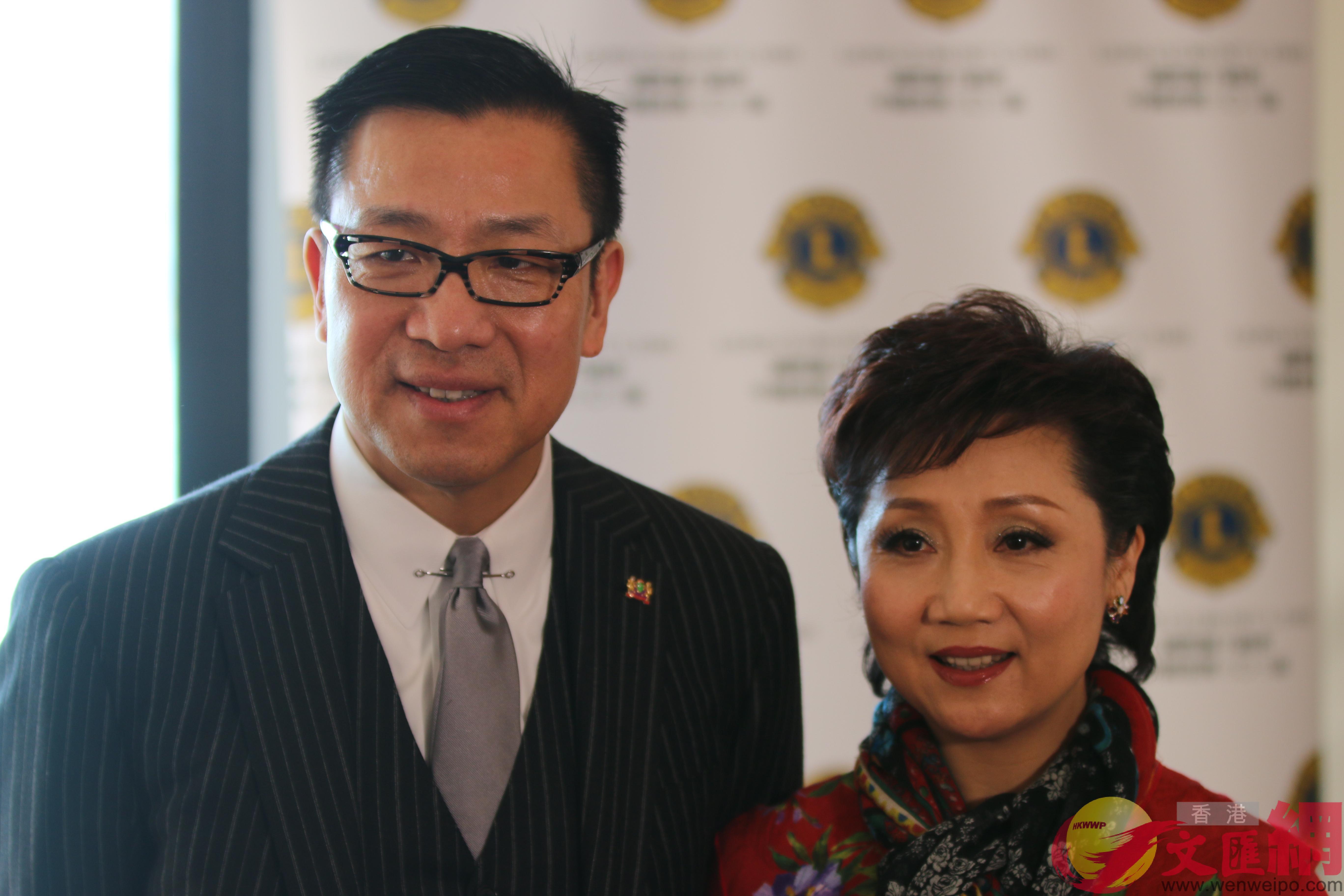 張德蘭與丈夫楊偉誠(大公文匯全媒體記者孫青川攝)