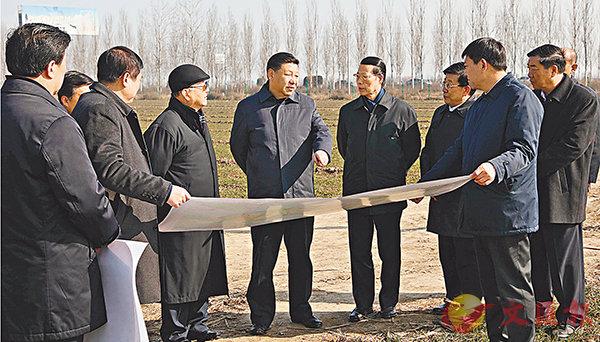 ■今年2月23日,習近平在河北省安新縣考察雄安新區規劃建設工作。 新華社