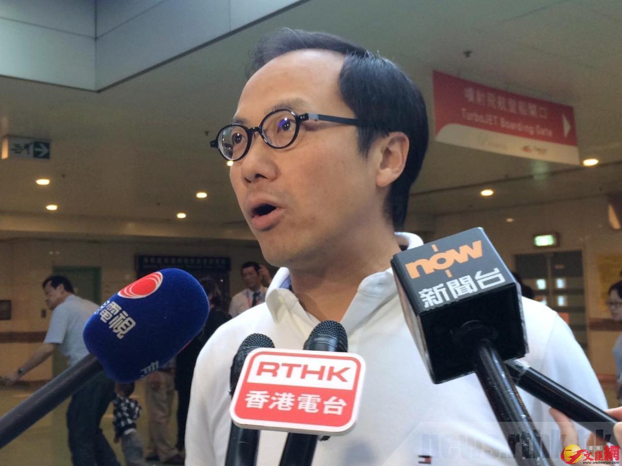 梁繼昌表示,關員指他會構成影響公共安全及秩序。