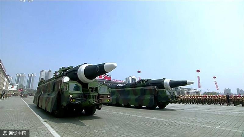 北極星2導彈。圖片來源:視覺中國
