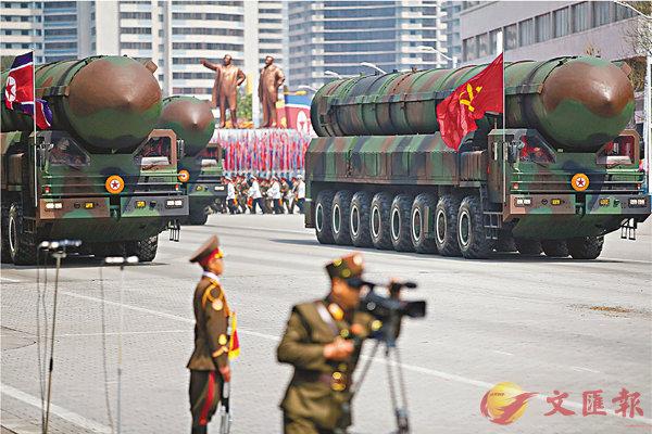 ■搭載於移動式發射車上的導彈,韓國軍方推測它可能就是新型ICBM。路透社