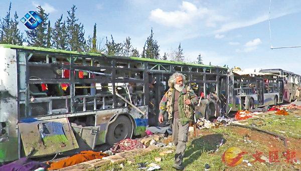 零食誘走近  敘車隊被炸68童亡 (圖)