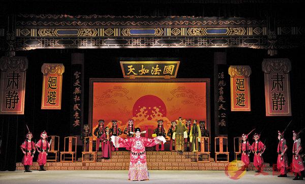 ■由京劇名家葉少蘭參與創編,「葉派」小生朱福挑樑的新戲《天道行》在北京演出。