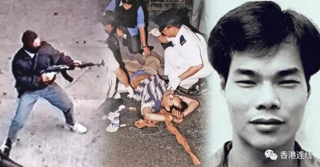 1993年,葉繼歡手持AK-47打劫珠寶金行(網絡圖片)