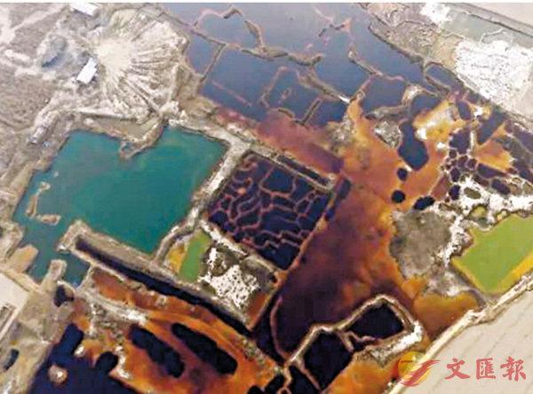 華北驚現17萬平米工業污水坑 (圖)