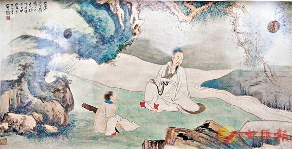■張大千創作於1944年的《松溪覓句圖》。記者 李陽波 攝