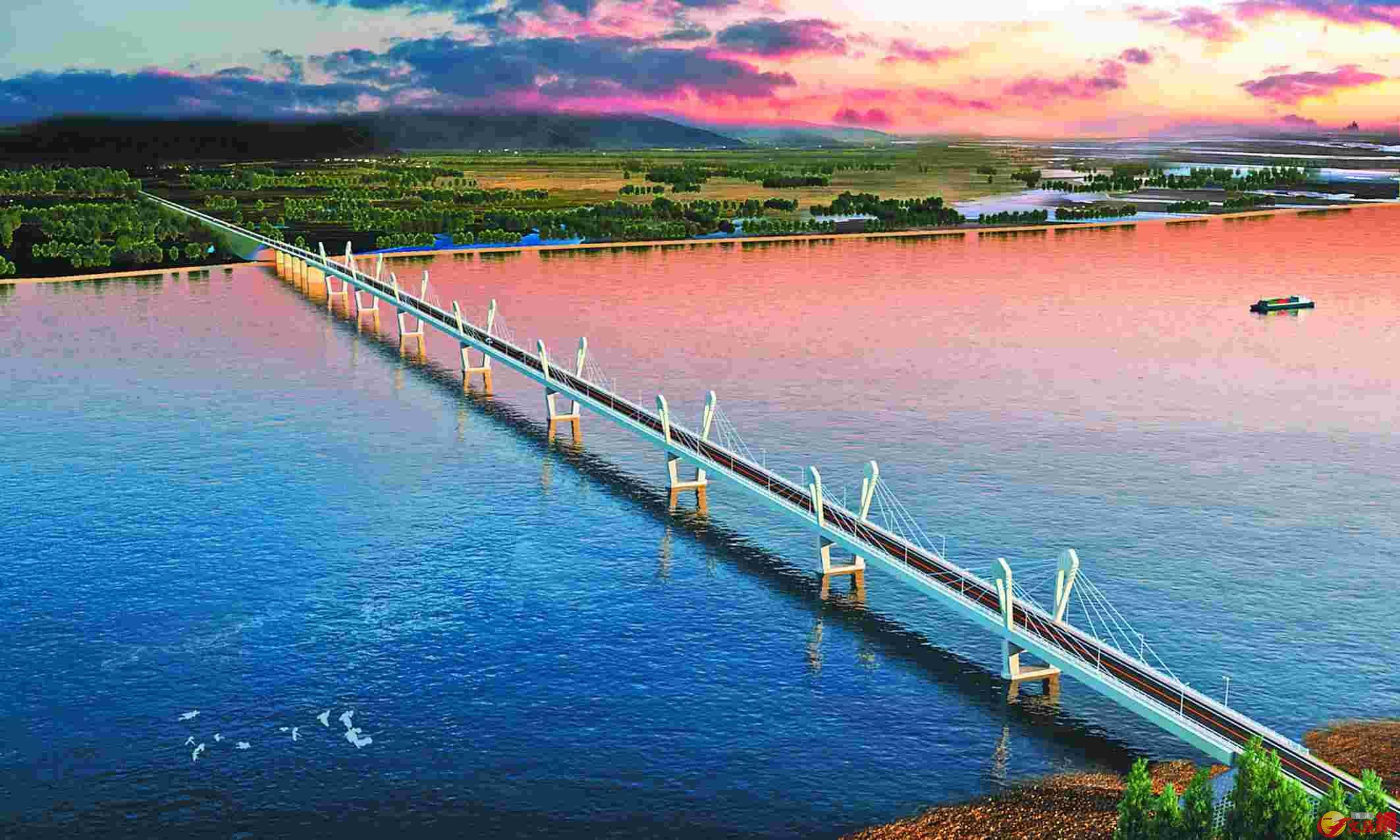 黑龍江(阿穆爾河)大橋設計富有現代感,橋型新穎。