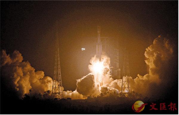 ■4月20日19時41分,搭載天舟一號貨運飛船的長征七號遙二運載火箭在海南文昌航天發射場發射,取得圓滿成功。 新華社