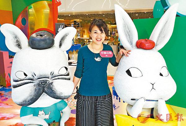 ■Emma今次特別為商場展覽創作「小畫家肉包」和「小畫家島灰」。