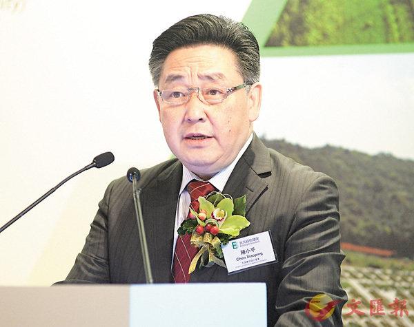 ■光大綠色環保今起招股,圖為主席兼非執行董事陳小平。 梁祖彝  攝