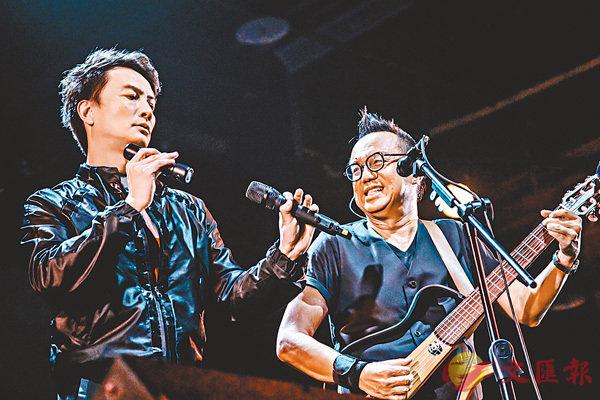 ■黃大煒在Legacy開唱邀請李泉做嘉賓。