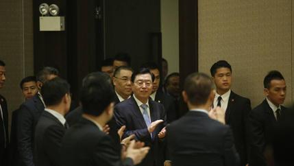 張德江與澳門青年學生座談
