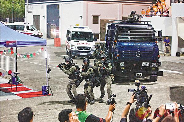 600警反恐演習  「堅盾」救人質 (圖)