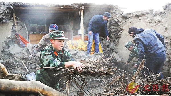 新疆5.5級地震  8亡1.2萬人受災 (圖)