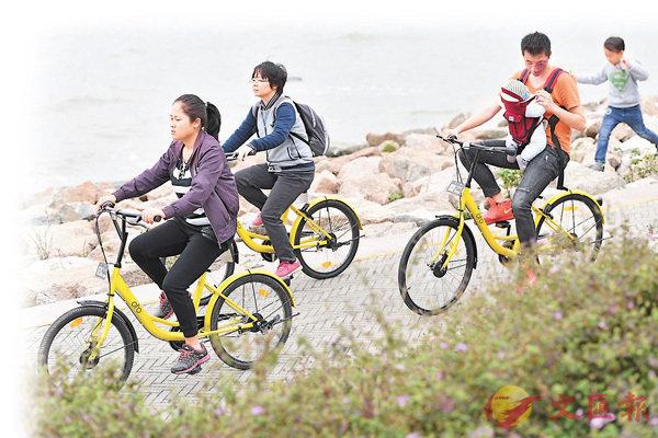 ■ofo共享單車獲不少年輕人追捧。 資料圖片