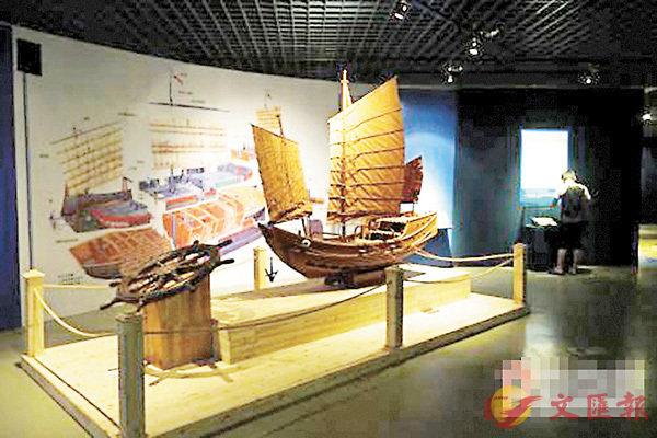 ■「華光礁1號」沉船遺蹟在展覽中最亮眼。 網上圖片