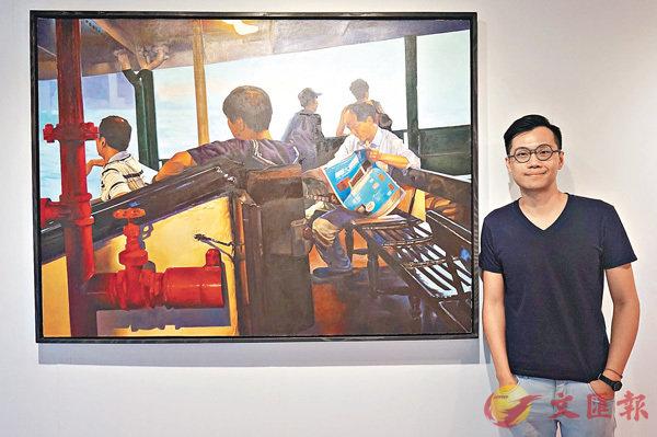 ■《Exile》是劉彥韜常畫的渡輪題材。 張岳悅 攝