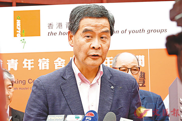 ■梁振英指梁繼昌必須辭任專責委員會委員。 香港文匯報記者彭子文 攝