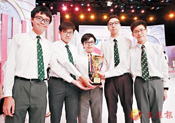 ■英華書院獲得銀獎。香港文匯報記者彭子文  攝