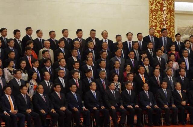 全國政協主席俞正聲會見出席台企聯成立十周年活動的台商代表(網絡圖片)