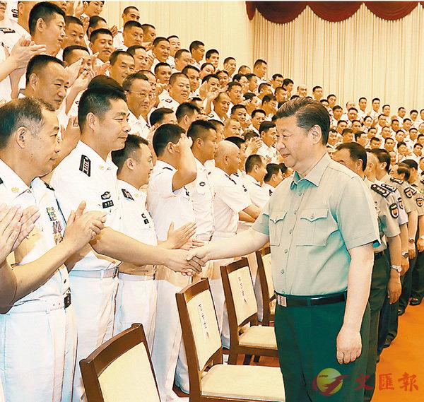 習近平:努力建設強大現代化海軍 (圖)