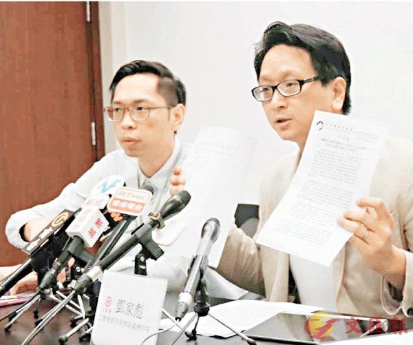 ■工聯會對陳章明涉抽起譴責梁游的新聞稿表達不滿。 香港文匯報記者文森 攝