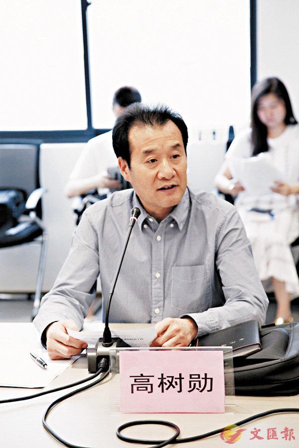 ■執委會主任高樹勳通報商洽會籌備情況。香港文匯報記者丁樹勇  攝