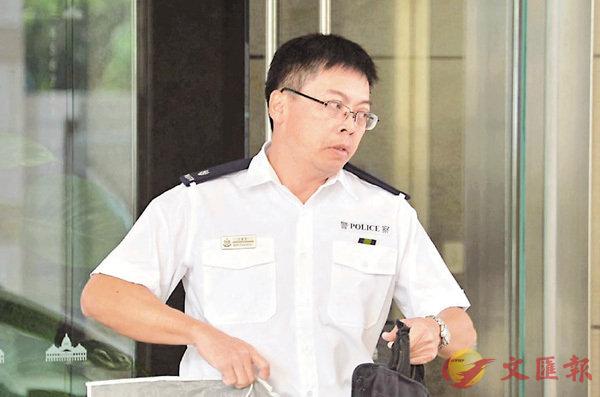■警司莫慶榮昨到庭作供。