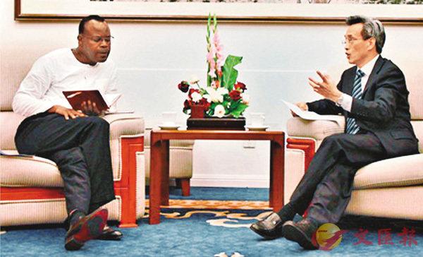 ■中國外交部非洲司司長林松添4日緊急約見贊比亞駐華使館臨時代辦班達提出交涉。網上圖片