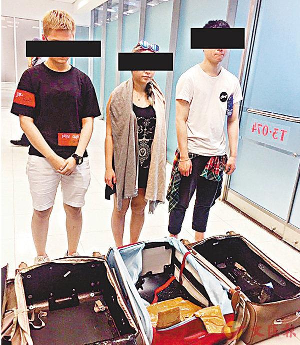 3港青為賺8000蚊  運值千萬毒品入泰 (圖)