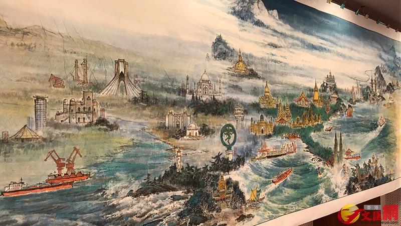 《海上絲綢之路合作共贏圖》長卷北京亮相,王美晴攝