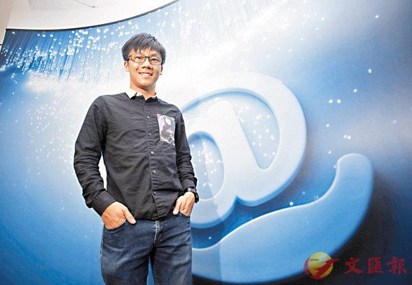 ■陳易希表示,現今電腦和智能手機就如「空氣般重要」。香港文匯報記者劉國權  攝