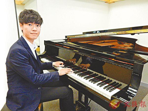 ■鍾情音樂的黃思遠感恩香港為他創造了音樂發展的機遇。 香港文匯報記者黎忞  攝